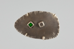 Stage 7 Brooch with Surface Decoration and a Set Gem