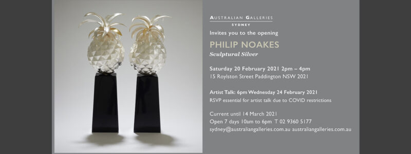 Australian Galleries Sydney   Sculptural Silver exhibition   20 February – 14 March 2021